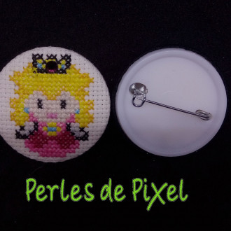 Badge Princesse Peach