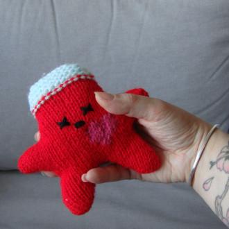 Nawak Roger - doudou tricoté à la main pour adultes et grands enfants