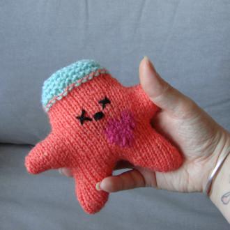 Nawak Bunny - doudou tricoté à la main pour adultes et grands enfants