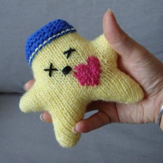 Nawak Polly - doudou tricoté à la main pour adultes et grands enfants