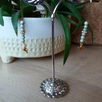creation boucles d'oreilles perles naturelles