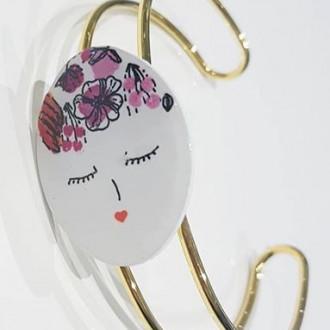 Bracelet laiton Demoiselle rose
