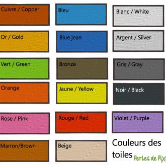 et ça ce sont les couleurs disponibles pour la toile ! Plus qu'à faire votre choix !