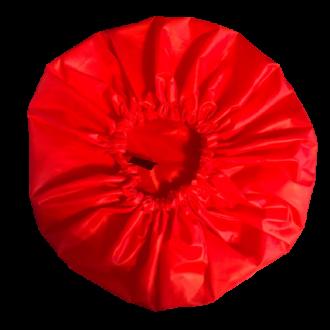 Bonnet de douche lavable rouge