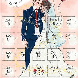 calendrier cadeau mariage