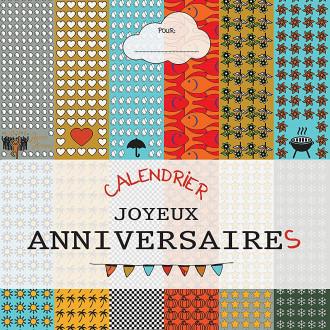 Calendrier Anniversaires perpetuel - Cadeau Anniversaire Bloc 14 pages spirales - Calendrier sans année