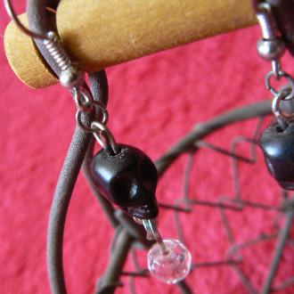 Boucles d'oreilles Vanités noires