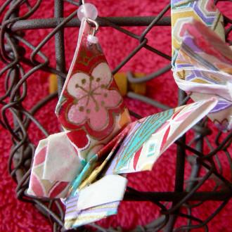 Boucles d'oreilles Papillons pastels en origami